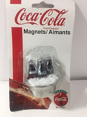 RARE Coca Cola Refrigerator Magnet ICE Tub COKE Bottles 1997 No. 51657 NEW