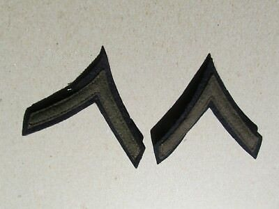 US Army Private First Class PFC Rank Chevrons insignia matching pair
