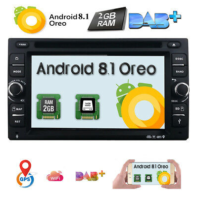 Quad Core Android 7.1 4G WIFI Double 2 DIN Car DVD Player Radio Stereo GPS Navi
