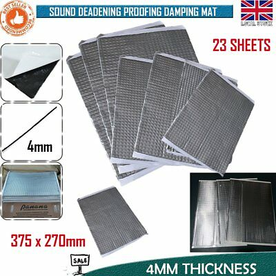 Silent Coat 4mm Bulk Pack 23 Sheets Car Van Deadening Sound Proofing Damping Mat