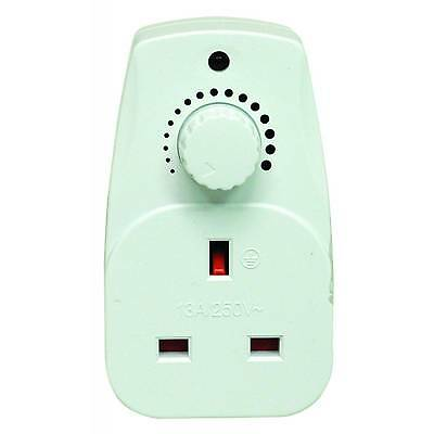 Plug in Dimmer Switch - Adjustable Control for your Light / Lamp - 13A Socket