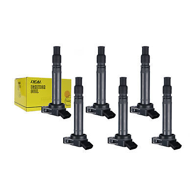 6pcs New Replacement Plug Pack Ignition Coil w/Boot For Lexus Scion Toyota UF507