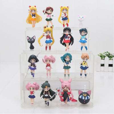 Sailor Moon 4Pc Figure Set Figures Anime Doll Toy Action 20th Anniversary UK