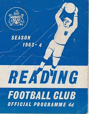 READING v ENFIELD ~ 16 NOVEMBER 1963  ~ FA CUP 1ST ROUND