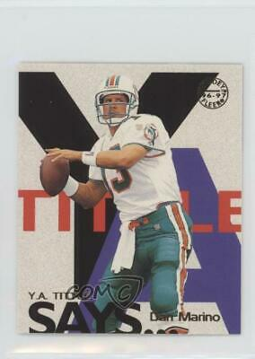 1997 Fleer Goudey YA Tittle Says #13 Dan Marino Miami Dolphins Football Card