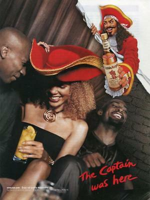 Captain Morgan The Captain Was Here Magazine Page Print Ad Sexy Red Pirate Hat