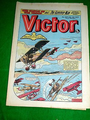 Raf Nieuport Scout Takes On 3 German Platz  Ww1 Cover Story In Victor 1977