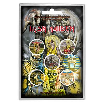 Iron Maiden Buttonset / Badges Set / Ansteckerset # 3 The Number Of The Beast