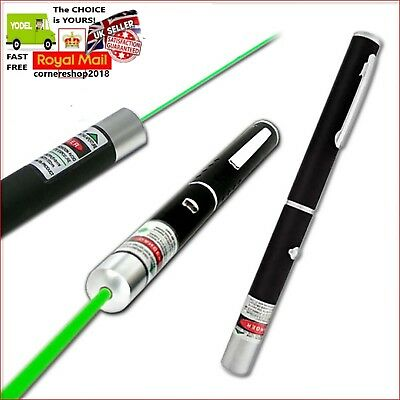 NEW UK POWERFUL GREEN LASER LAZER POINTER PEN HIGH POWER PROFESSIONAL 532nm 1mW