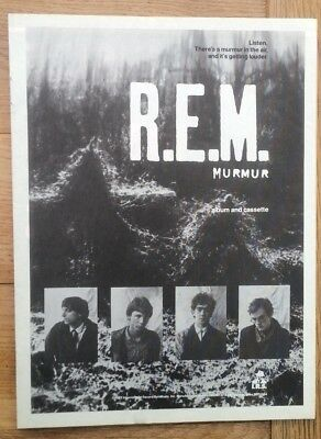 R.E.M. Murmur magazine ADVERT/Poster/Clipping 11x8 inches
