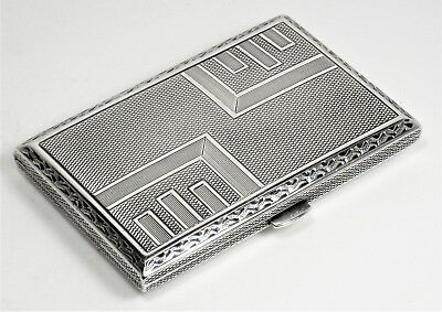 Cigarette case antique very beautiful sterling silver – Austro-Hungary Empire