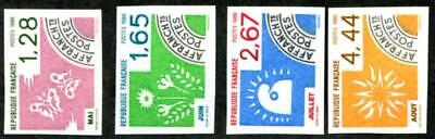 France 1957-1960 Mint Nh Imperf Singles
