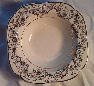 Rare 1934 Edwin M Knowles China Desert Dish 22 Karat Gold Ornate Pattern 34-5