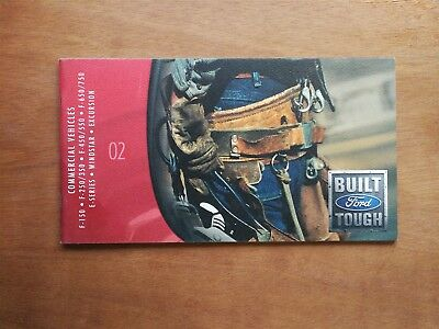 2002 Ford Commercial Vehicles Full Color Sales Brochure Booklet  F-150  52 Pages