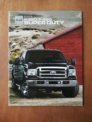 2006 Ford F-250 & F-350 Super Duty Truck Full Color Sales Brochure