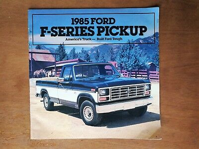 1985 Ford F-Series Truck Sales Brochure - 24 Pages