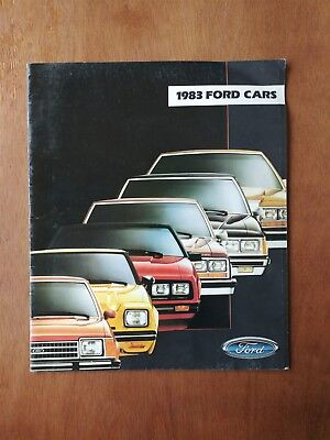 1983 Ford Cars Sales Brochure - Mustang -15 Pages