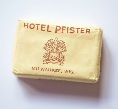 HOTEL PFISTER Milwaukee VINTAGE EARLY CENTURY SOAP BAR - NEVER OPENED!