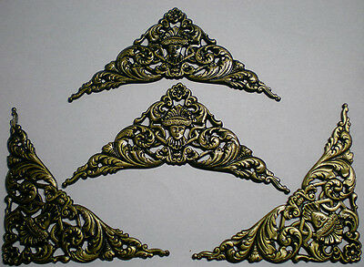 "PACK of 4 Economical Metal Corner Decoration 5"" x 3-5/8"" For Clocks, Dial,Crafts"