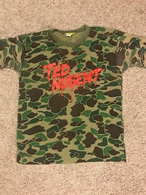 Vintage 1980 Ted Nugent XL Camo Print 80s 70s