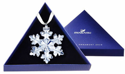New 2016 Swarovski Crystal Annual Star Snowflake Large Christmas Ornament  C18