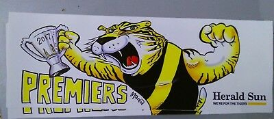 2017 Afl Richmond Tigers Premiership Sticker