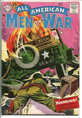 ALL-AMERICAN MEN OF WAR #48-1957-WWII-DC-SILVER AGE-BATTLE COVER-NICK-EASY CO-fn