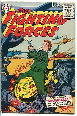 OUR FIGHTING FORCES #4-1955-DC-SILVER AGE-BOMB COVER-vg