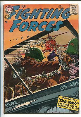 OUR FIGHTING FORCES #26-1957-DC-SILVER AGE-WWII-FINGER MAN-fn