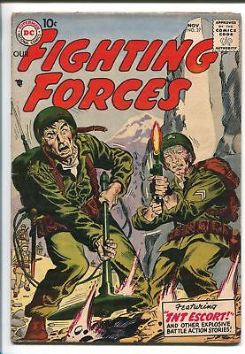 OUR FIGHTING FORCES #27-1957-DC-SILVER AGE-WWII-JOE KUBERT-fn