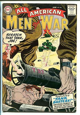 ALL-AMERICAN MEN OF WAR #46-1957-DC-WWII-TANK BUSTERS-fn+