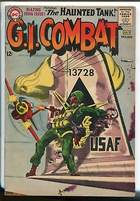 G.I. COMBAT #100 1963-DC-KEY ISSUE-PARACHUTE COVER- HAUNTED TANK STORY-vf minus