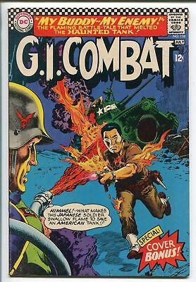 G.I. COMBAT #118 1966-DC-FLAME THROWER-HAUNTED TANK-FLAMING JAPANESE SOLDIER-vf
