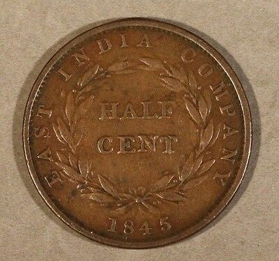 1862 Straits Settlements Half Cent 1 Year Issue Average ** FREE U.S SHIPPING **