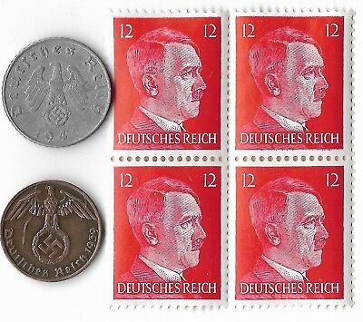 Rare Old German WWII WW2 Nazi Germany BERLIN SS Coin Stamp War Collection US/T18