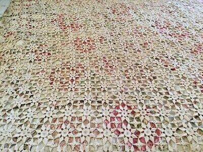 1890 antique hand crochet Made in Italy by Vita Depalo Piscitelli Bedspread