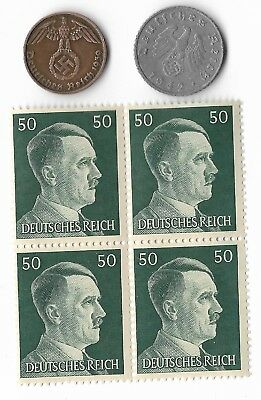 Rare Old German WWII WW2 Nazi Germany BERLIN SS Coin Stamp War Collection US/T27