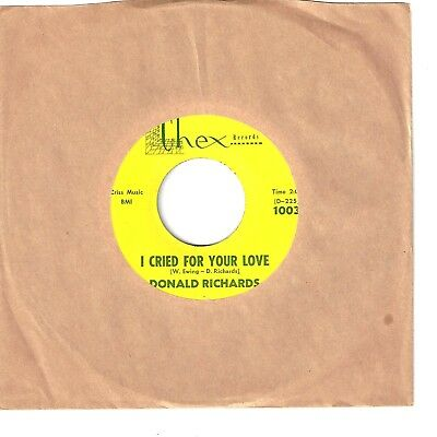 DONALD RICHARDS  Northern 45  I Cried For Your Love / Hello Operator - NM