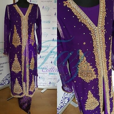 Pakistani indian Asian bridal stonework shalwar Kameez outfit