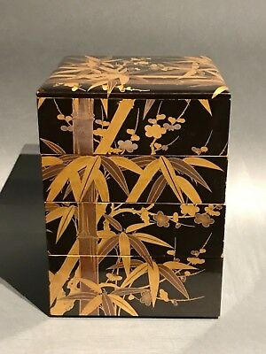 Japanese Antique Lacquer Jubako
