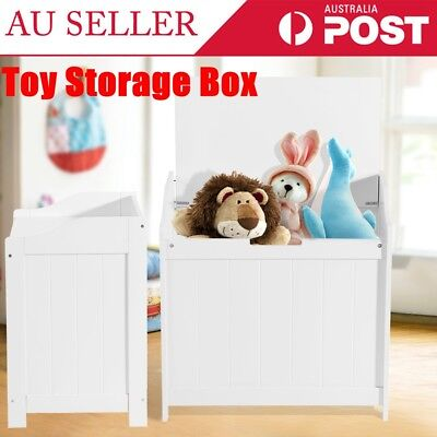 White Kid's Toy Storage Box Basket Clothes Books Container Case Home Organizer