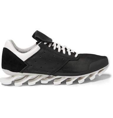 497b9357e New RICK OWENS ADIDAS SPRINGBLADE LEATHER AND RUBBER SNEAKERS US 11.5 10.5  black