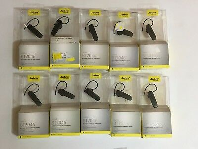 Lot Of 10 Jabra Bt2047 Bluetooth Headset For Mobile Connect 2 Devices-Black