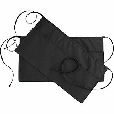 Home & Kitchen Features Pockets Waist Apron (SET Of 2, Black, 24x12 Inches) Half