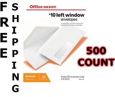 Left Window Envelopes #10 (500 count)