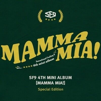 SF9-[Mamma Mia!] 4th Mini Album Special Edition CD+Poster+Booklet+Card+Mark+Gift