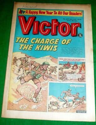 New Zealand Military In Western Desert Ww2 Cover Story In Victor Comic 5/1/1974
