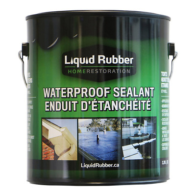 Liquid Rubber Waterproof Sealant/Coating,1 Gallon, Original Black
