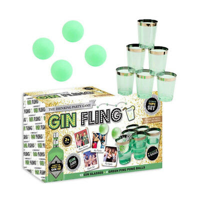 Gin Fling 16Pc Adults Party Ping Beer Pong Drinking Game Shot Hen Stag Games Fun