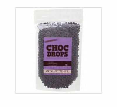 3 x 500g ORGANIC TIMES Couverture Drops DARK  ( total 1.5kg )